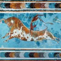 Fresque du toreador palais de cnossos 1