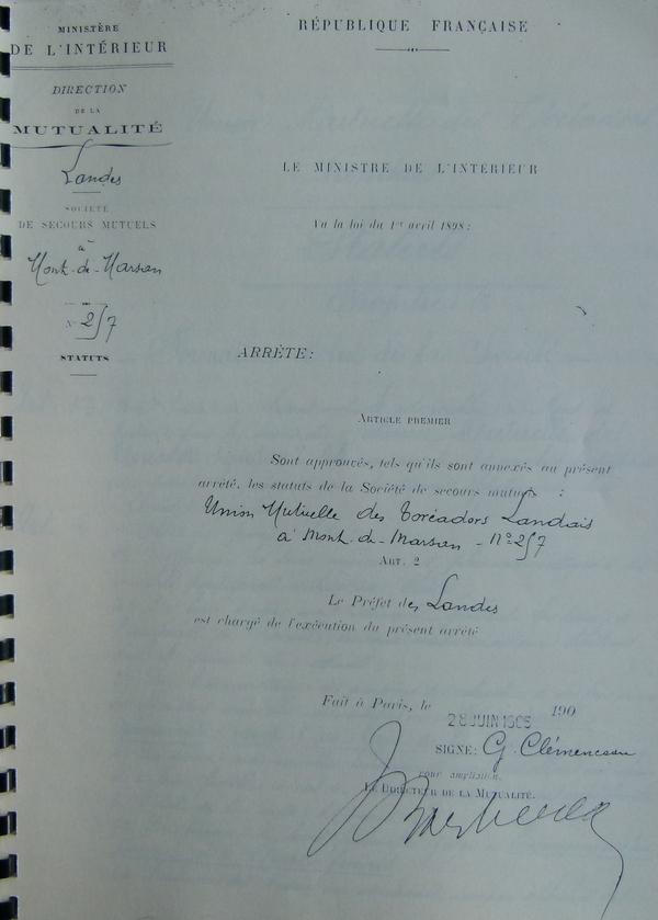 Arrêté de Georges Clémenceau